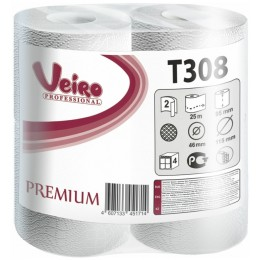 Туалетная бумага в рулонах Veiro Professional Premium T308 Q2 8 рулонов по 25 м
