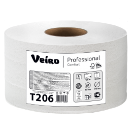Туалетная бумага в рулонах Veiro Professional Comfort Т206 Q2 12 рулонов по 125 м
