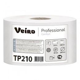 Туалетная бумага в рулонах Veiro Professional Comfort ТР210 Q2 6 рулонов по 215 м